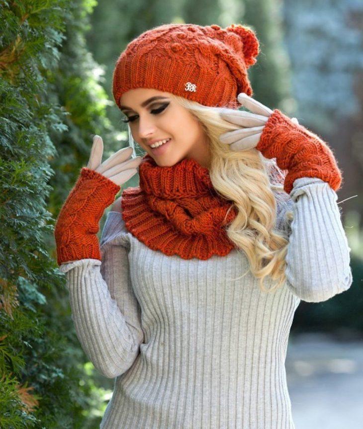 Вязаная шапка и шарф картинки