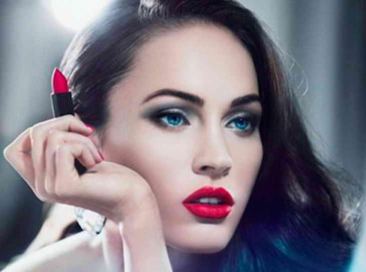 голливудский макияж для голубых глаз