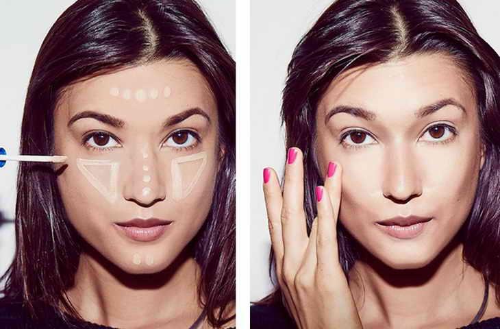 голливудский макияж коррекция