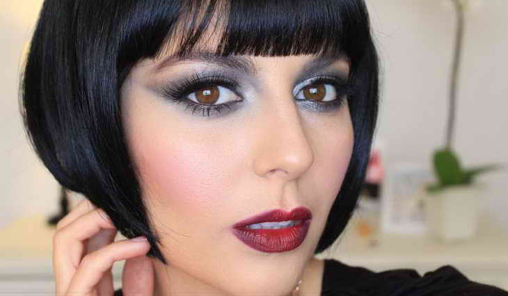 голливудский макияж для брюнеток