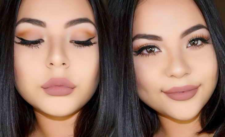 макияж губ для темненьких