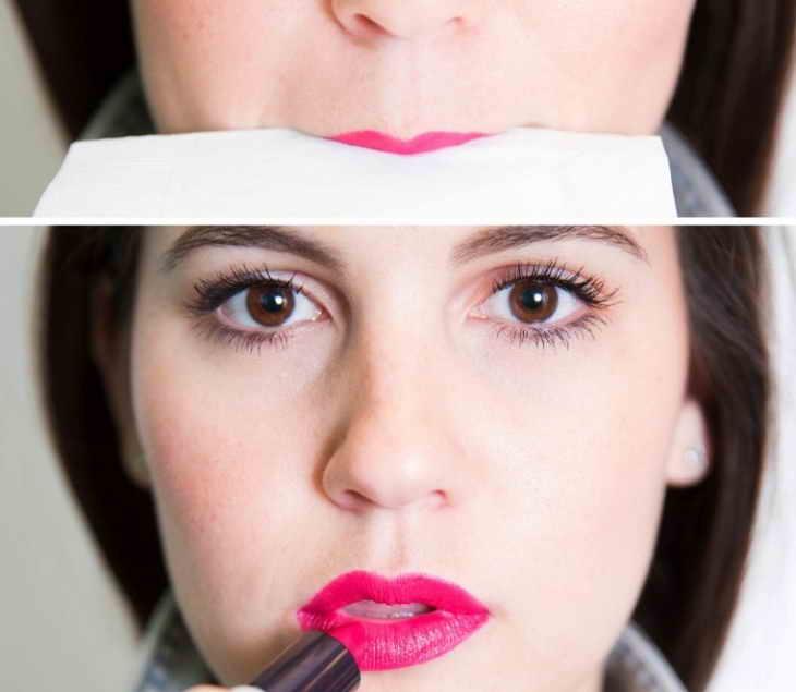 макияж под красные губы
