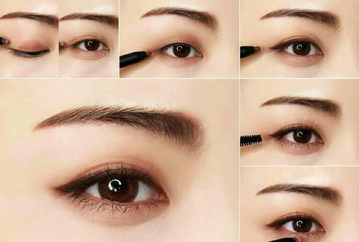 Макияж глаз в корейском макияже