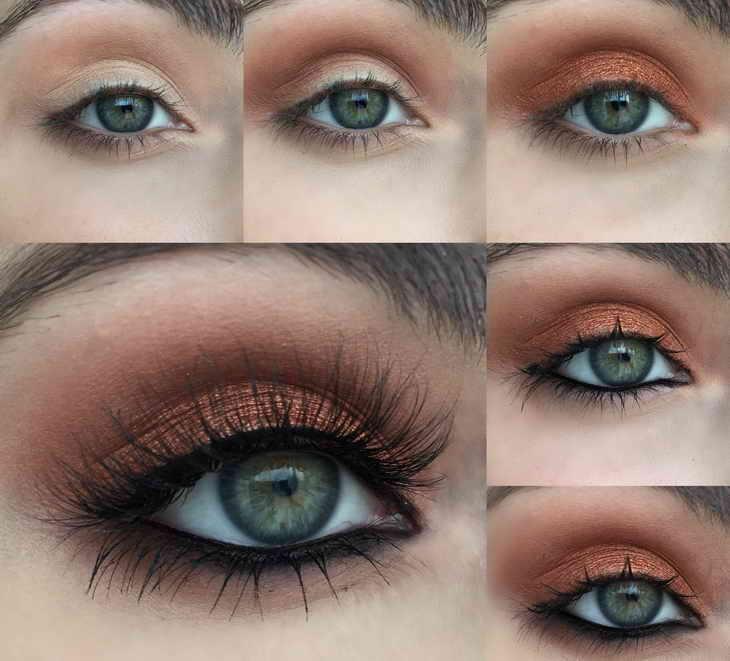 макияж для фотосессии зеленоглазым