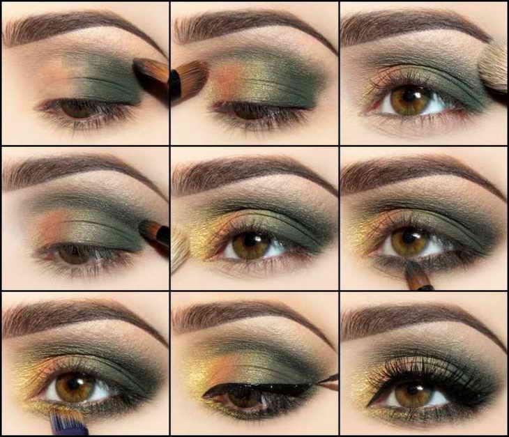 макияж для фотосессии с зелеными глазами