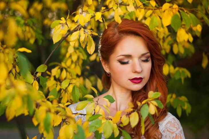 макияж для фотосессии рыжим
