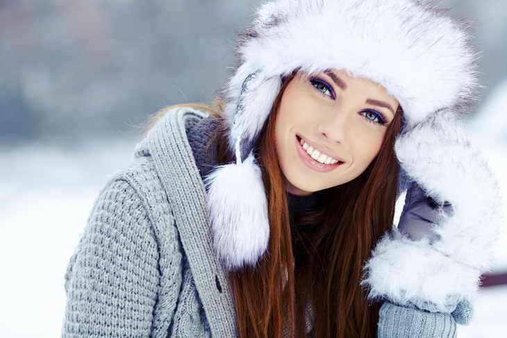 макияж для фотосессии зимний