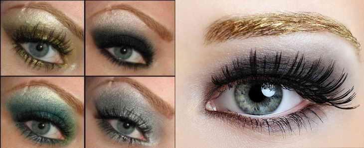 макияж для фотосессии для сероглазых