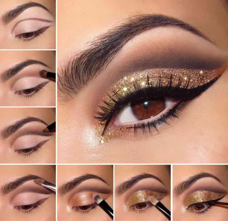 макияж для фотосессии для карих глаз