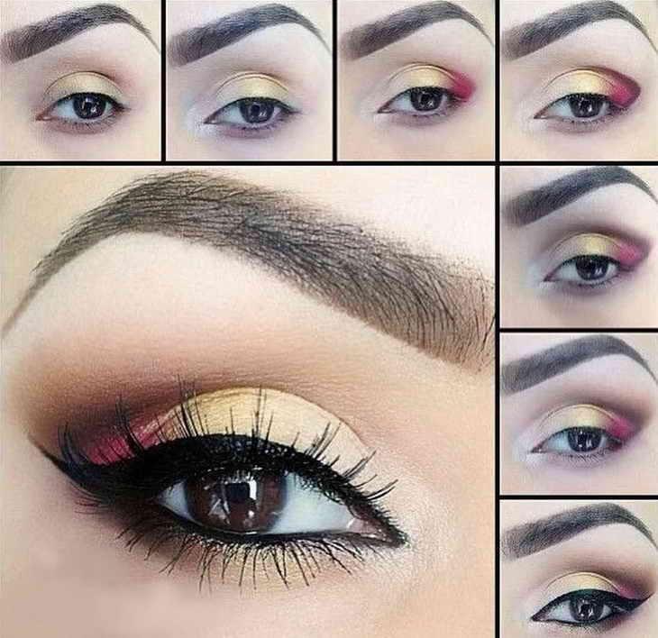 макияж для фотосессии карие глаза