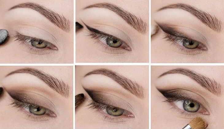 макияж кошачий глаз инструккция