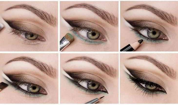 макияж кошачий глаз пошагово