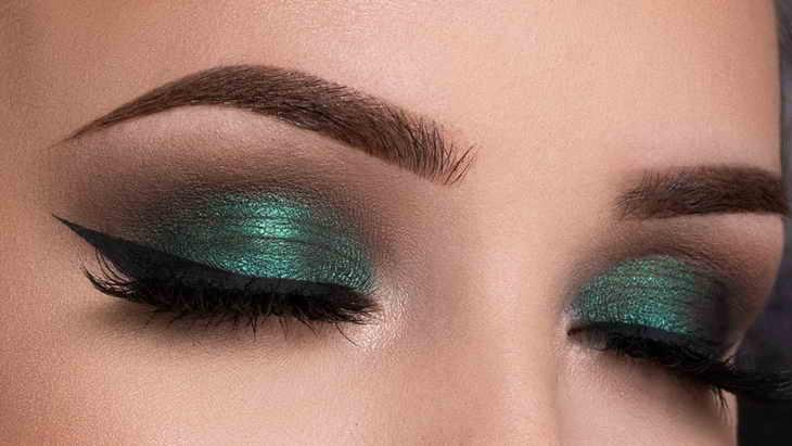 макияж смоки айс зеленый