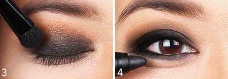 техника макияжа смоки айс