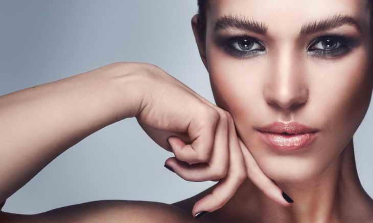 макияж смоки айс серый