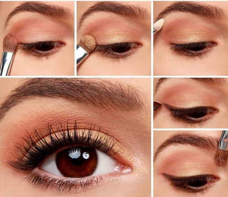 Нежный макияж для кареглазых