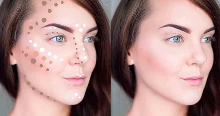 нежный слегка заметный макияж