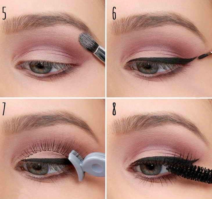 Нежный макияж серых глаз
