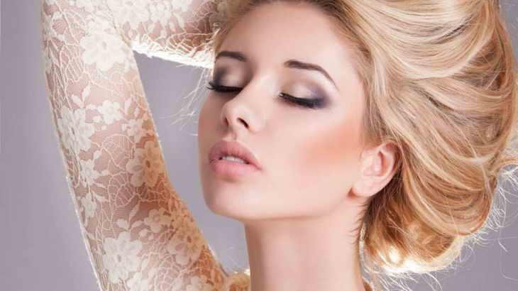 нежный макияж для карих