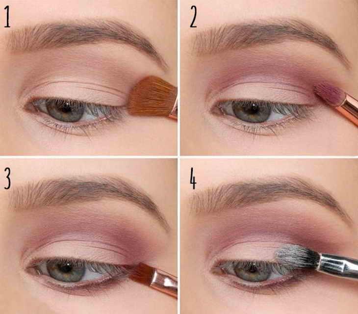 Нежный макияж для серых глаз