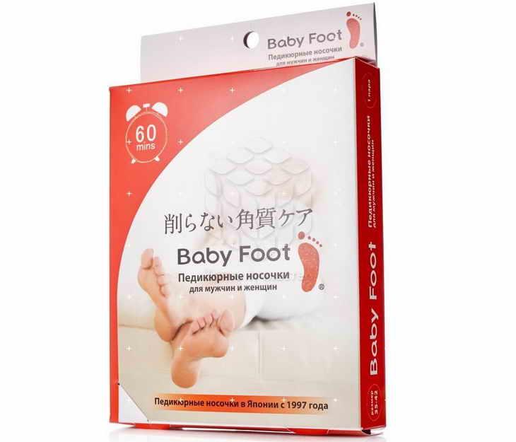 Baby Foot носочки для педикюра отшелушивающие