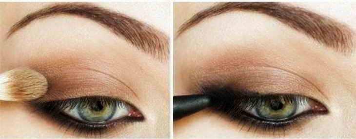 смоки макияж для серых глаз