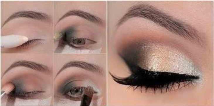 яркий вечерний макияж