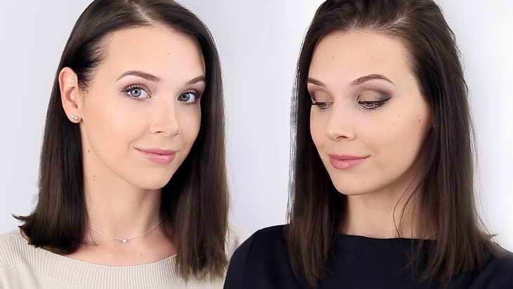 вечерний макияж видео
