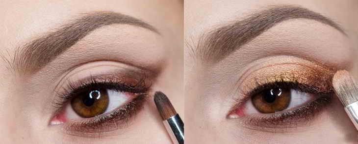 вечерний макияж карие глаза