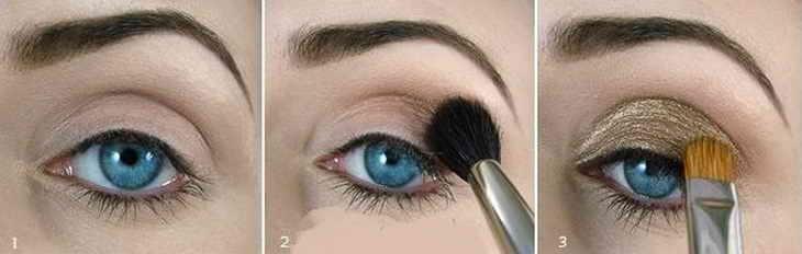 восточный макияж для синих глаз