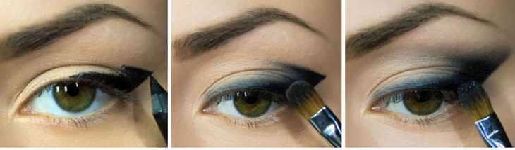 восточный макияж зеленых глаз