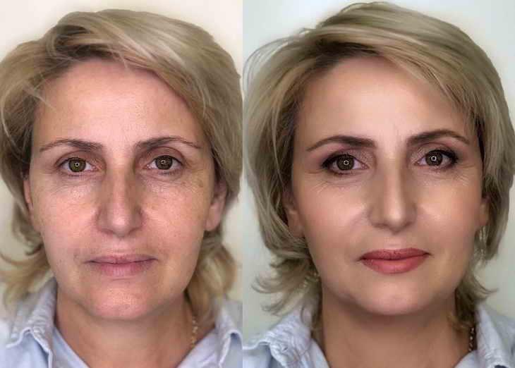 возрастной макияж пошаговое фото