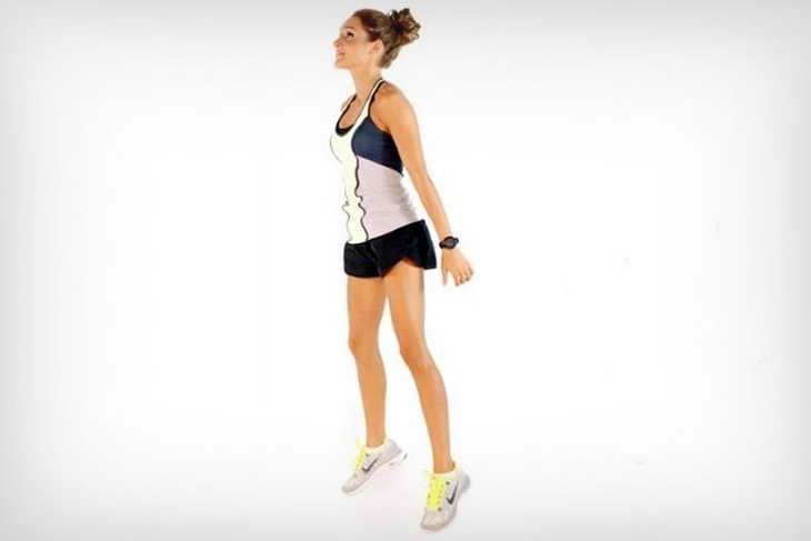 Прыжки на носках для похудения