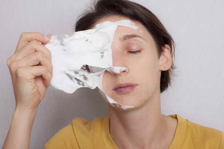 альгинатная маска как снимать