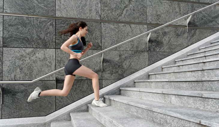бег для похудения по лестнице