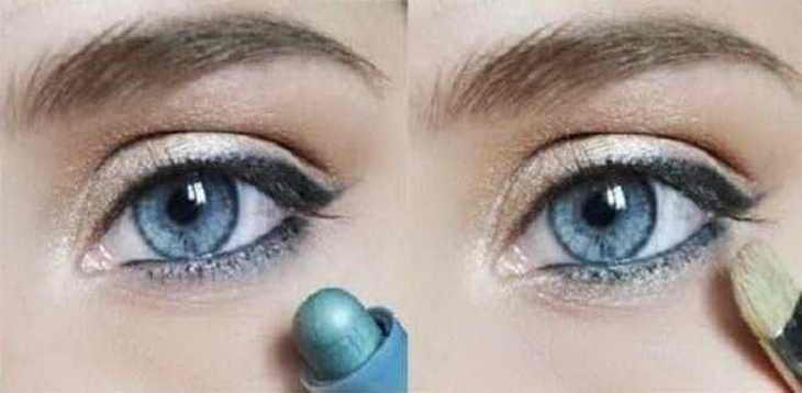 дневной макияж видео уроки для голубых глаз