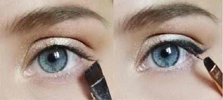 дневной макияж видео уроки голубые глаза