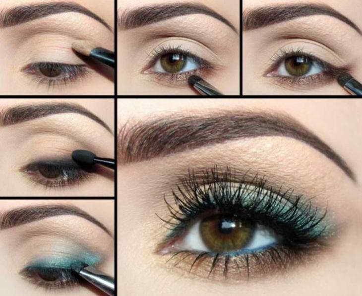 как красиво красить глаза тенями