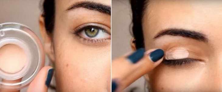 как правильно красить глаза тенями поэтапная инструкция