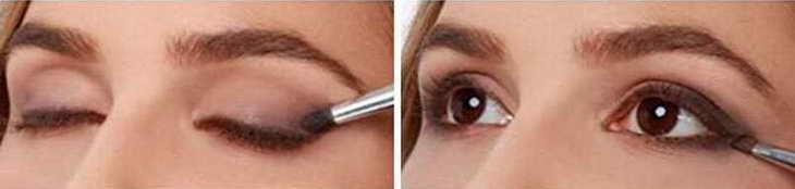 как красить голубые глаза тенями