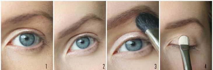как правильно наносить тени на глаза видео