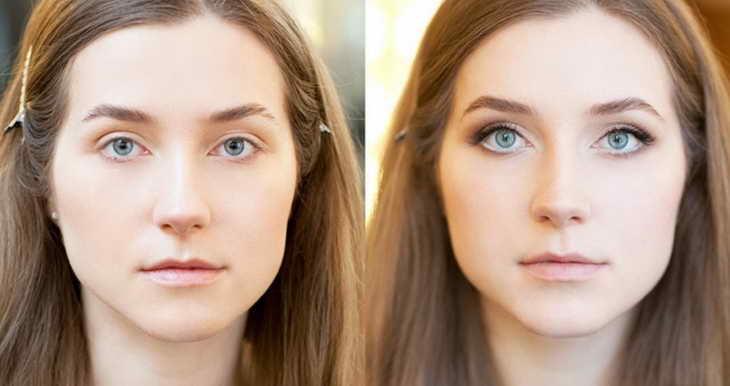 как увеличить глаза с помощью макияжа голубые глаза