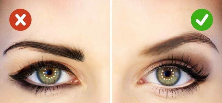 как увеличить глаза с помощью макияжа ошибки