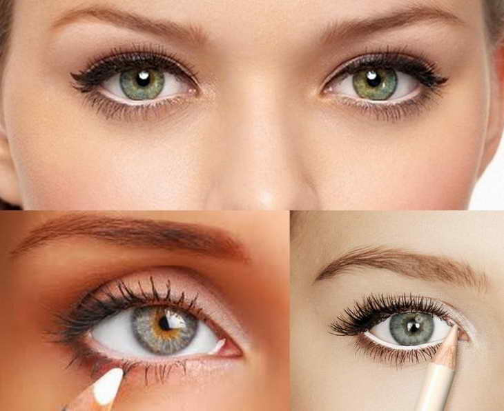 как увеличить глаза с помощью макияжа зеленые глаза