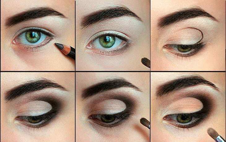 как увеличить глаза с помощью макияжа вечерний макияж