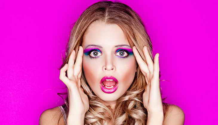 макияж для блондинок цвет губ