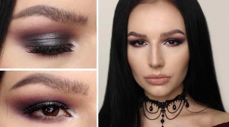 восточный макияж для карих глаз для брюнетки