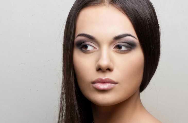 легкий макияж для карих глаз шатенка