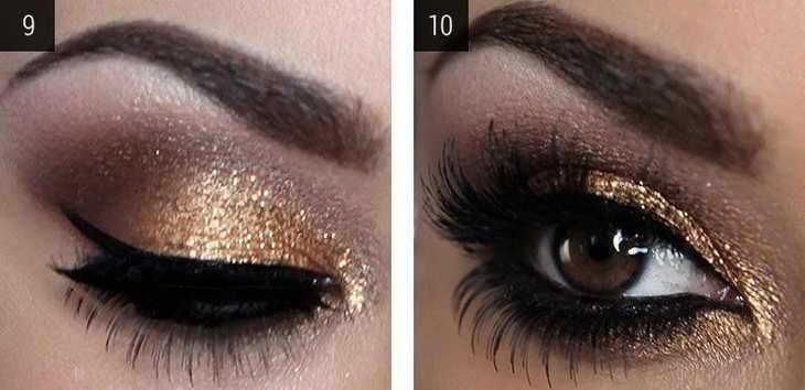 макияж для карих глаз как сделать себе