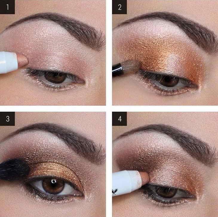 макияж для карих глаз как делать